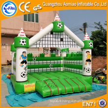 Fresh green and white school game baby jumper bouncer, nouveau design gonflable bouncer