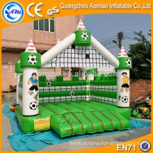 Verde fresco e branco escola jogo baby saltador bouncer, novo design bouncer inflável