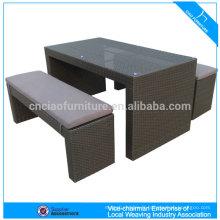 Élégant rotin mobilier bar table pas cher utilisé bar tabourets bar comptoir