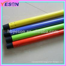 powder painted metal tube/color PVC metal broom handles/painting metal tube handle