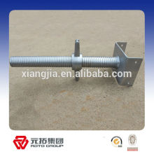 Factory price Electro-galvanized Hollow And Solid Scaffolding Steel Base Jack for africa