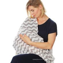 Cachecol de cobertura de amamentação de enfermagem seguro de pele de bebê seguro