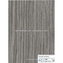 chapa de madera de vid gris de ingeniería