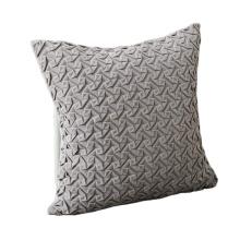 Fashionable custom solid embossed holland velvet decorative pillow