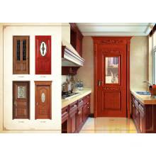 Porta de madeira de quarto moderno barata e barata