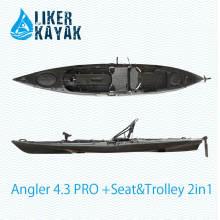 Сиденье с одним сидением на верхней части рыболовного каяка доступно с двигателем, сиденьем, тележкой 2 в 1, рыбоискателем Accs