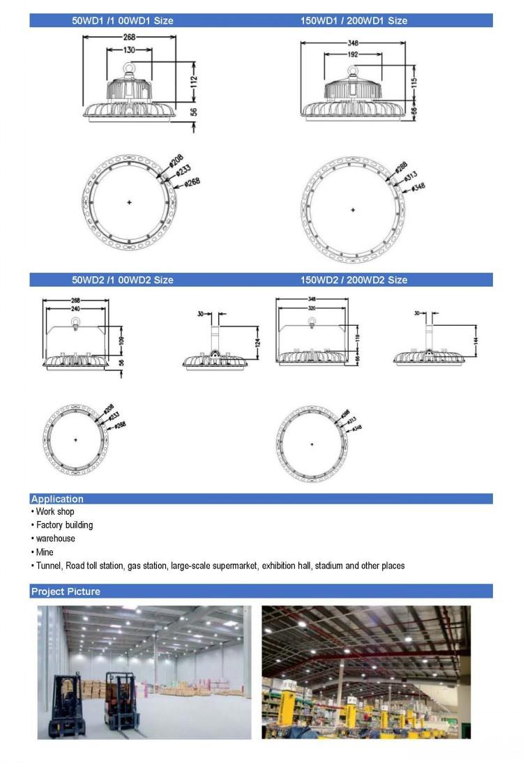 D Series UFO LED Bay Light Data sheet