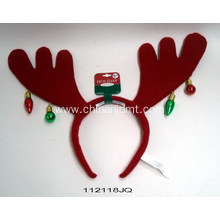 Red and umber reindeer antlers headband