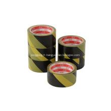 Ruban de signalisation de couleur jaune vinyle jaune sécurité