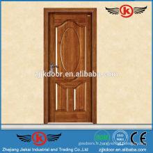 JK-SD9009 CE et ISO approuvé porte d'entrée en bois massif // portes en bois massif plat