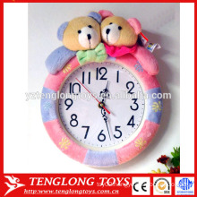 OEM Factory plush animal clock cover plush animal clock cover bear shaped plush cover