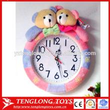 OEM завод плюшевых животных часы крышки плюшевых животных часы крышка медведя формы плюшевые покрытия