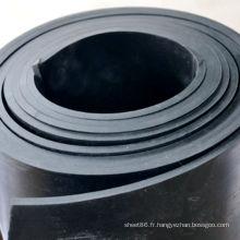 Feuille en caoutchouc noire lisse industrielle de SBR pour l'atelier