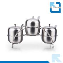 Ensemble de pâte à épices en acier inoxydable 30 pièces en acier inoxydable de haute qualité de 3 pièces Ensemble de sel et de poivre