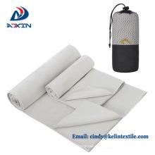 Hersteller Großhandel Easy Carry Mikrofaser Reise Handtuch mit Net Bag Verpackung