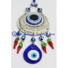 Blue Evil Eye Car Hanging Ornament With Evil Eye Bead Red Pepper