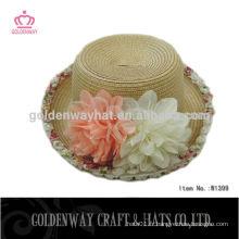 Chapeau de chapeau en paille pour enfants