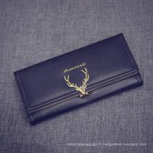 Porte-monnaie promotionnel pour dames Portefeuille en cuir nouvelle arrivée