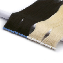 Black Brown Blond Color Double Drawn Thick End Human Hair Virgin Remy Tape in Hair Extension