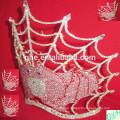 2014 Kronen Tiaras, große Festzug Krone, hohe Tier Tiaras zum Verkauf