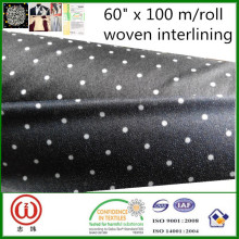 the lightest and softest 100% polyester fusible interlinings