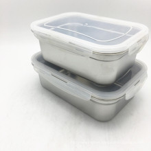 3 Compartments Lunch Box With Lid/Food Container/Stainless Steel Food Storage Bento Container
