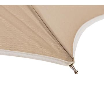 Ladies Plain Farbe Manual Open Straight Umbrella