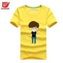 T-shirt promocional impresso de algodão personalizado