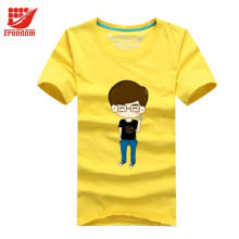 Подгонянный хлопок печатный футболка