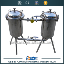 industrial juice sanitary double-barrel filter