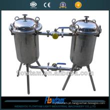 Suco industrial filtro sanitário duplo-barril