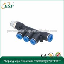Les raccords d'air de branchement d'ESP de mâle de PKD d'ESP poussent dans des garnitures de tube