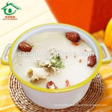 Color Esmaltado Beige Tazón de sopa de porcelana pintado a mano