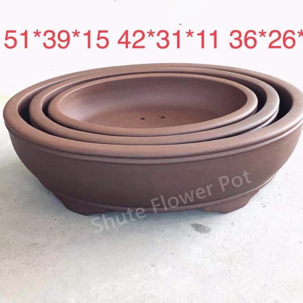 High Strength Purple Clay Flower Planter Pots