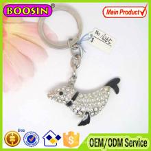 High Quality Shiny Crystal Dolphin Animal Keychain