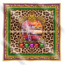 2014 nueva bufanda del leopardo del diseño 100 bufandas y mantones de seda
