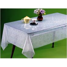 2016 heißer Verkauf hohe Qualität PVC Gedruckt Transparente Tischdecke