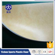 Revêtement de sol commercial en plastique PVC anti-dérapant mousse arrière en plastique