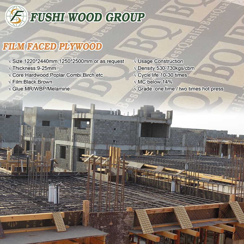 Black And Brown Film Faced Plywood