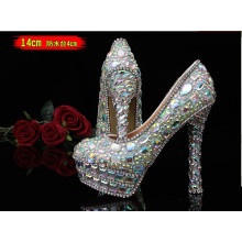 Neue Kollektion Hochzeit Diamanten High Heel Damenschuhe (HCY02-1534)