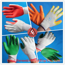 red rubber coated cotton gloves for construction use