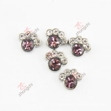 Purple Stone Paw Floating Locket Charms (FC)