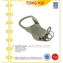 Porte-clés en métal blanc nickel avec petits anneaux fendus x 4