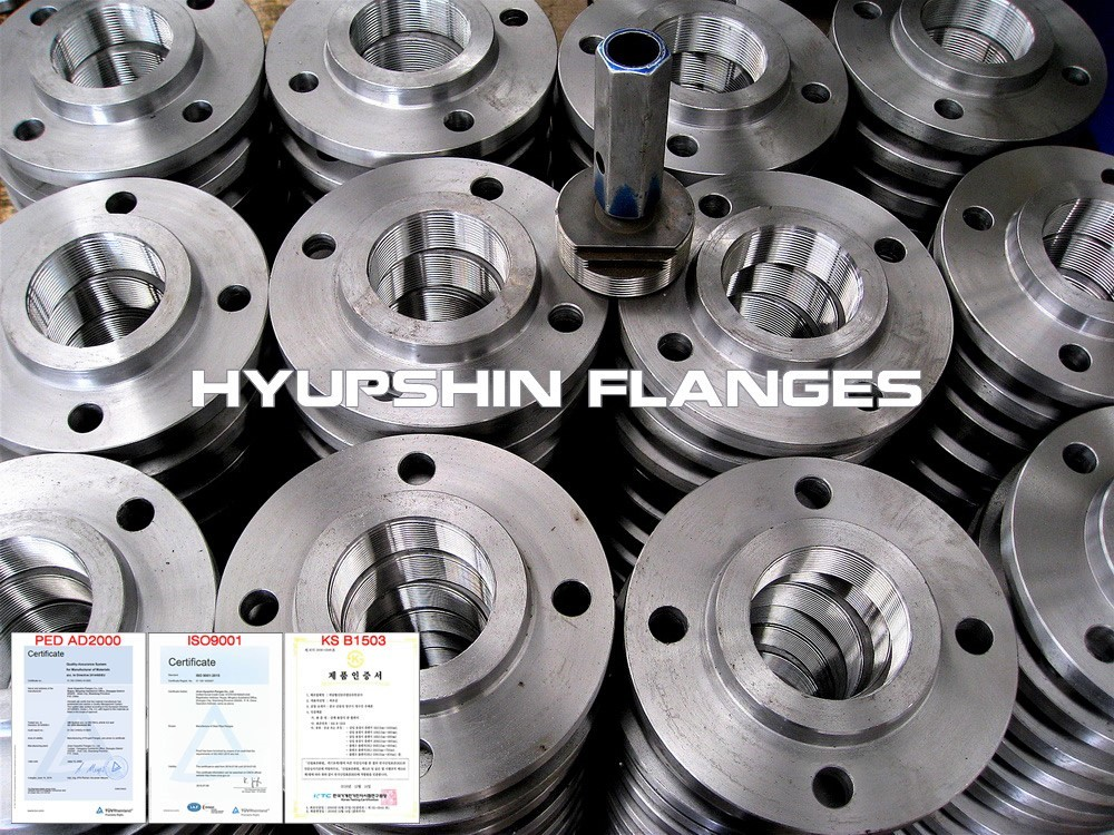 Hyupshin Flanges Bspt Threaded