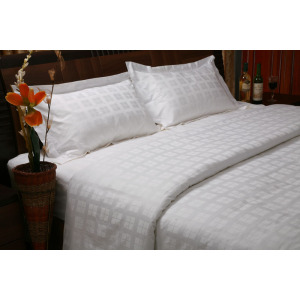 50% Cotton50% Poly Checker Sheet Sets 300TC