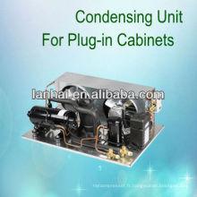 R22 r404a compresseur de refroidissement unité de condensateur petite unité de réfrigération basse hauteur à vendre