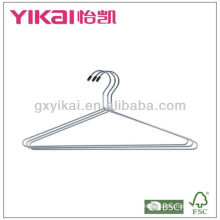 Set of 3pcs chrome plated metal shirt hangers
