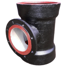 China for Ductile Iron Socket Spigot Tee Ductile Iron Double Socket Tee With Flanged Branch export to France Metropolitan Factories