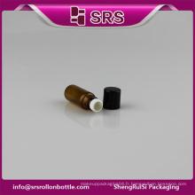SRS Contenant en verre mini-rouleau sur bouteille en verre 3ml pour crème pour les yeux