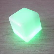 изменение светодиодные кубик льда